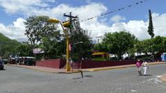 Street at park Morazan Stock Footage