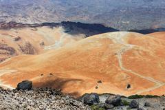 Volcanic bombs on Volcanic bombs on Montana Blanca, Teide National Park, Tene Stock Photos