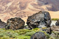 Stock Photo of Volcanic bombs on Montana Blanca, Teide National Park, Tenerife, Canary Islan