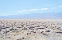 Defocused background of Devil's Golf Course in Death Valley, California - stock photo