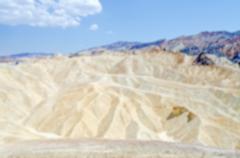 Defocused background of Zabriskie Point, Death Valley, California Stock Photos