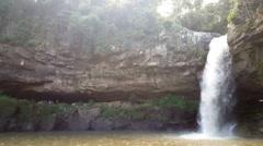 Cascada Blanca waterfall near Santa Emilia Stock Footage