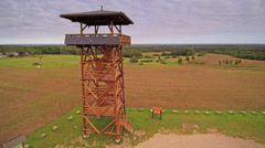 The watch tower with the solar cells on it Stock Footage