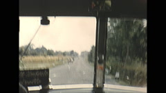 Vintage 16mm film, 1955, Italy, Perugia bus ride out Stock Footage