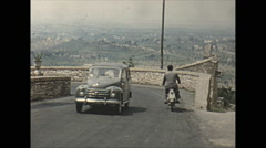 Vintage 16mm film, 1955, Italy, Assisi b-roll #2 Stock Footage