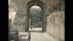 Vintage 16mm film, 1955, Italy, Assisi b-roll #3 Stock Footage