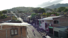 Early morning in the streets of Matagalpa Stock Footage