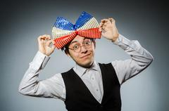 Funny man with giant bow tie Kuvituskuvat