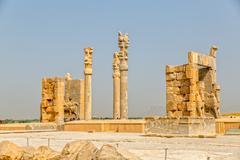 Persepolis gate beautiful view - stock photo