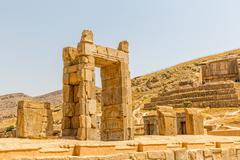 Ruins of Persepolis - stock photo