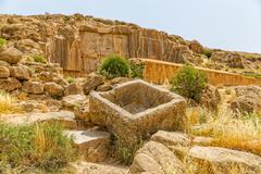 Persepolis royal tombs Stock Photos