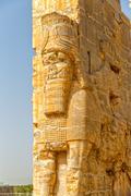 Persepolis Lamassu statues - stock photo