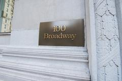 Stock Photo of Broadway street sign in New York