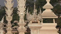 White Temple Chiang Rai Thailand Stock Footage