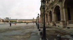 Louvre. The famous art museum in Paris. France.  4K. Stock Footage