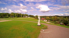 A monument called the Estonian Mother monument Stock Footage