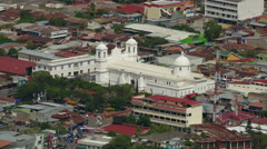 Catedral San Pedro seen from rooftop Stock Footage