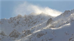 Wind Snow Mountains Stock Footage