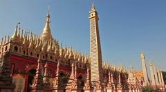 Burma Thandboddhay Paya Temple Holly Stock Footage