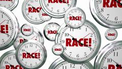Race Clocks Timing Game Competition Sports - stock footage