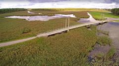 The Bridge in Voru called the Roosisaare bridge Stock Footage