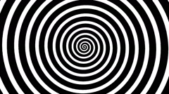 Swirling hypnotic spiral - wpa Stock Footage