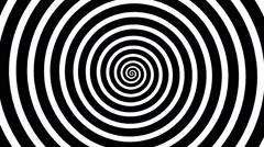 Swirling hypnotic spiral - upb - stock footage