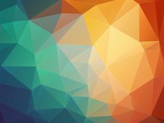 Tria orange blue background Stock Illustration