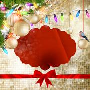 Christmas Gold Decoration. EPS 10 - stock illustration
