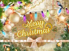 Stock Illustration of Christmas background decoration. EPS 10