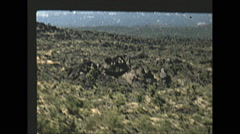 Vintage 16mm film, 1955, Italy, Naples chairlift up Vesuvius Stock Footage