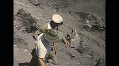 Vintage 16mm film, 1955, Italy, Vesuvius cinder-cone volcano, tourists... Stock Footage