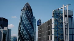 London Building - Gherkin Stock Footage