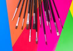 brushes for use with any media like acrylic - stock photo
