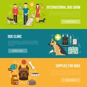 Stock Illustration of Dog banner set