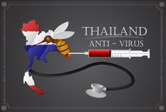 Stock Illustration of Mosquito protection in Thailand