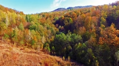 Flying over the mountains at autumn season. Stock Footage