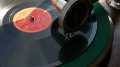 4K UHD Antique nostalgic Gramophone sale Flea Market Cologne Köln Germany - stock footage