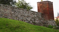 Teutonic castle in Sztum, Poland Stock Footage