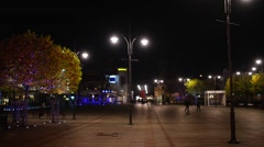 Time-lapse: Square spa in Sopot Stock Footage