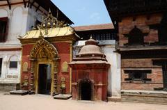 Golden Gate at the Durbar square, Bhaktapur, Kathmandu ,Nepal, Asia Stock Photos