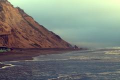 Beach in evening, San Francisco, California, USA - stock photo