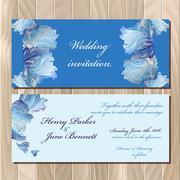 Winter frozen glass design invitation card. Wedding Vector illustration - stock illustration