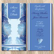 Winter frozen glass design. Wedding invitation card. Vector illustration - stock illustration
