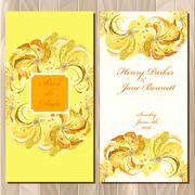 Peacock Feathers wedding invitation card. Printable Vector illustration - stock illustration