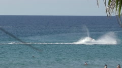 A man on a jet ski near the Karon beach, Phuket, Thailand - stock footage