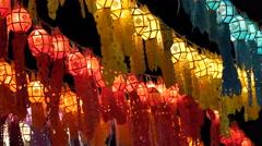 Thailand Loy Krathong festival of light Stock Footage