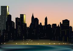 New York - stock illustration