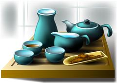 Tea ceremony - stock illustration