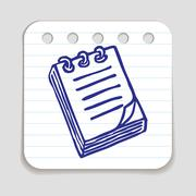 Doodle Notepad icon Stock Illustration